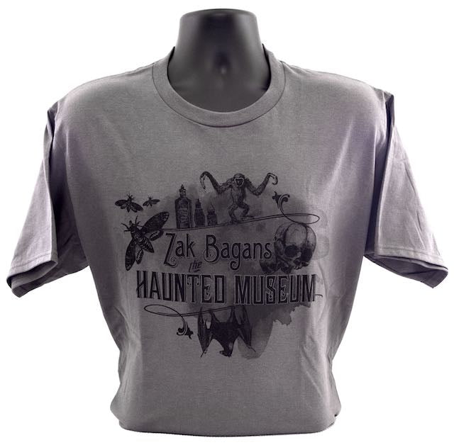 Grey Haunted Museum Unisex T-Shirt