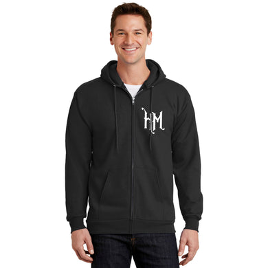 HM Zippered Hooded Sweatshirt - Unisex