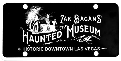 Zak Bagans' The Haunted Museum License Plate