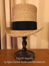 Early 19th Century Round Straw Hat