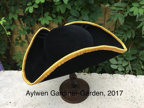 Tricorn or Cocked Hat, mid 18th Century