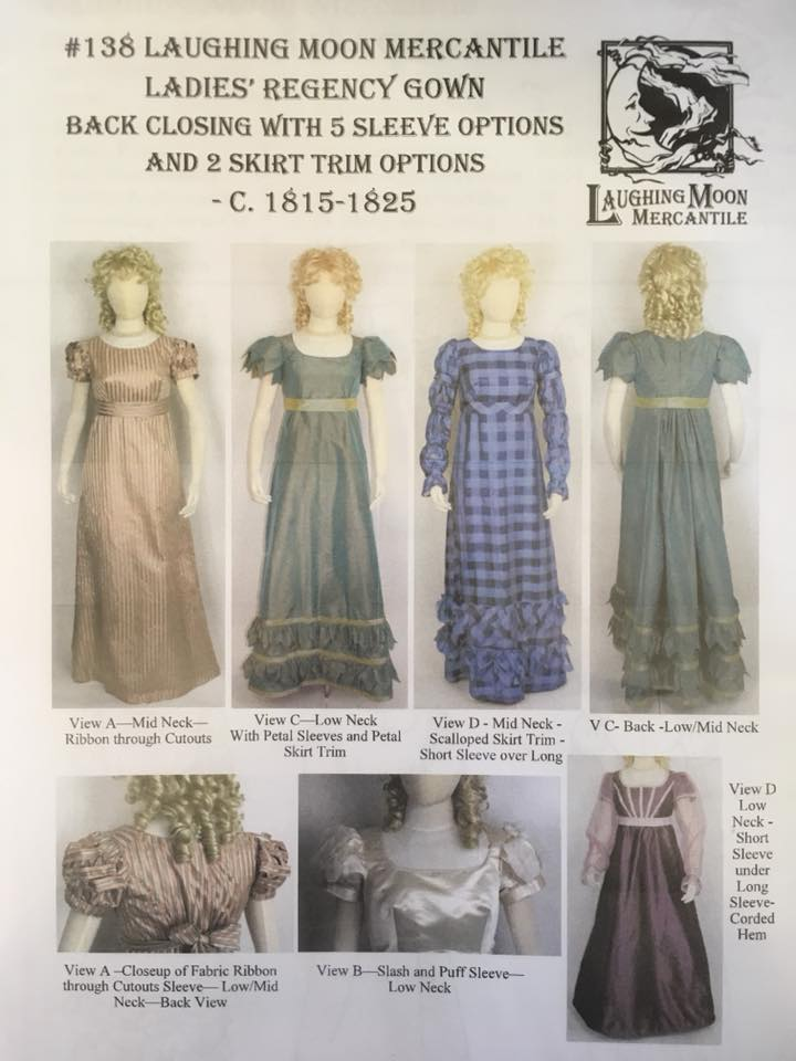 Laughing Moon Regency Gown Pattern 138 [Sizes 4 to 34]