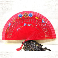 Hand-Painted Folding Wooden Hand Fan
