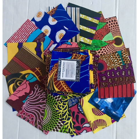 "Charm Packs - African Print Designs/ Ankara, Precut 5"" Quilting Crafting Fabric Squares"