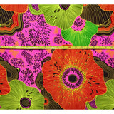 African Print Fabric/ Ankara - Pink, Red, Yellow 'Floral Fiyah,' YARD or WHOLESALE