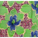 African Print Fabric/ Ankara - Red, Green, Blue 'The Magnificence,' YARD or WHOLESALE