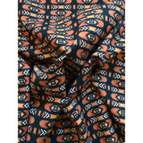 "African Print, Denim/Upholstery/ Heavyweight Cotton Fabric- Brown, Black, White ""Bogolanfini Mid,"" Per Yard"