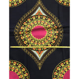 African Dashiki 3.0 Print Fabric/ Ankara - Navy & Pink, Per YARD, PANEL or WHOLESALE
