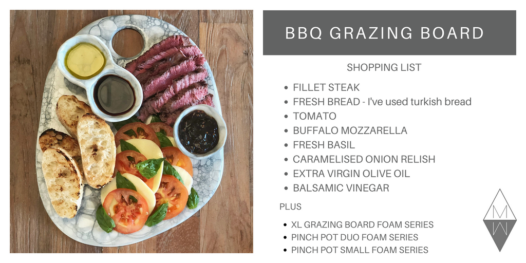 BBQ Grazing Board ingredients