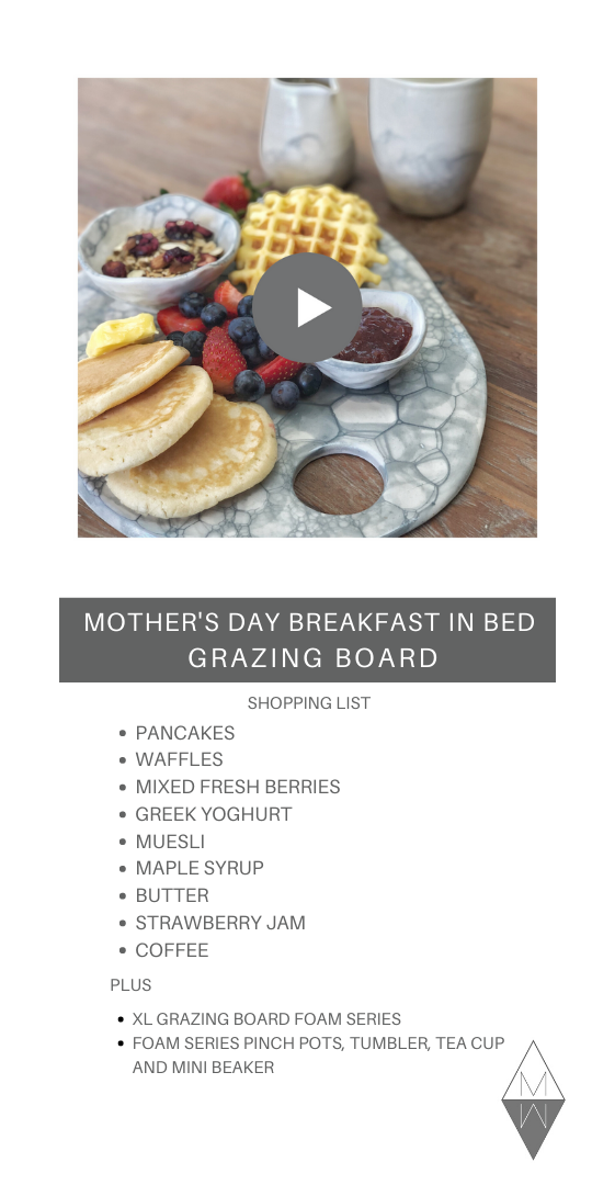 mothers day breakfast in bed platter