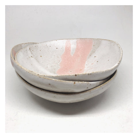 handmade ceramic bowl blush