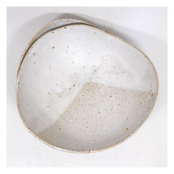 handmade ceramic bowl speckled