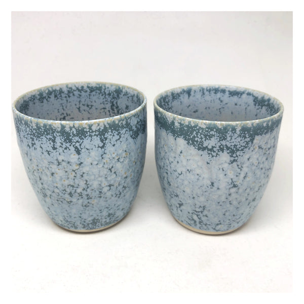 handmade ceramic cup blue