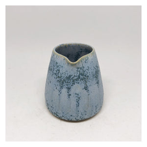 handmade ceramic milk jug mini blue