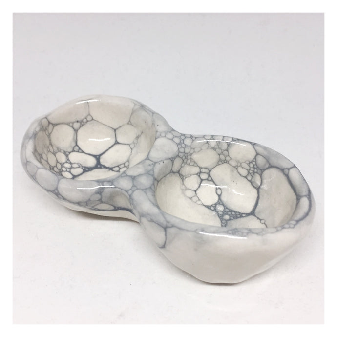handmade ceramic pinch pot foam series salt and pepper