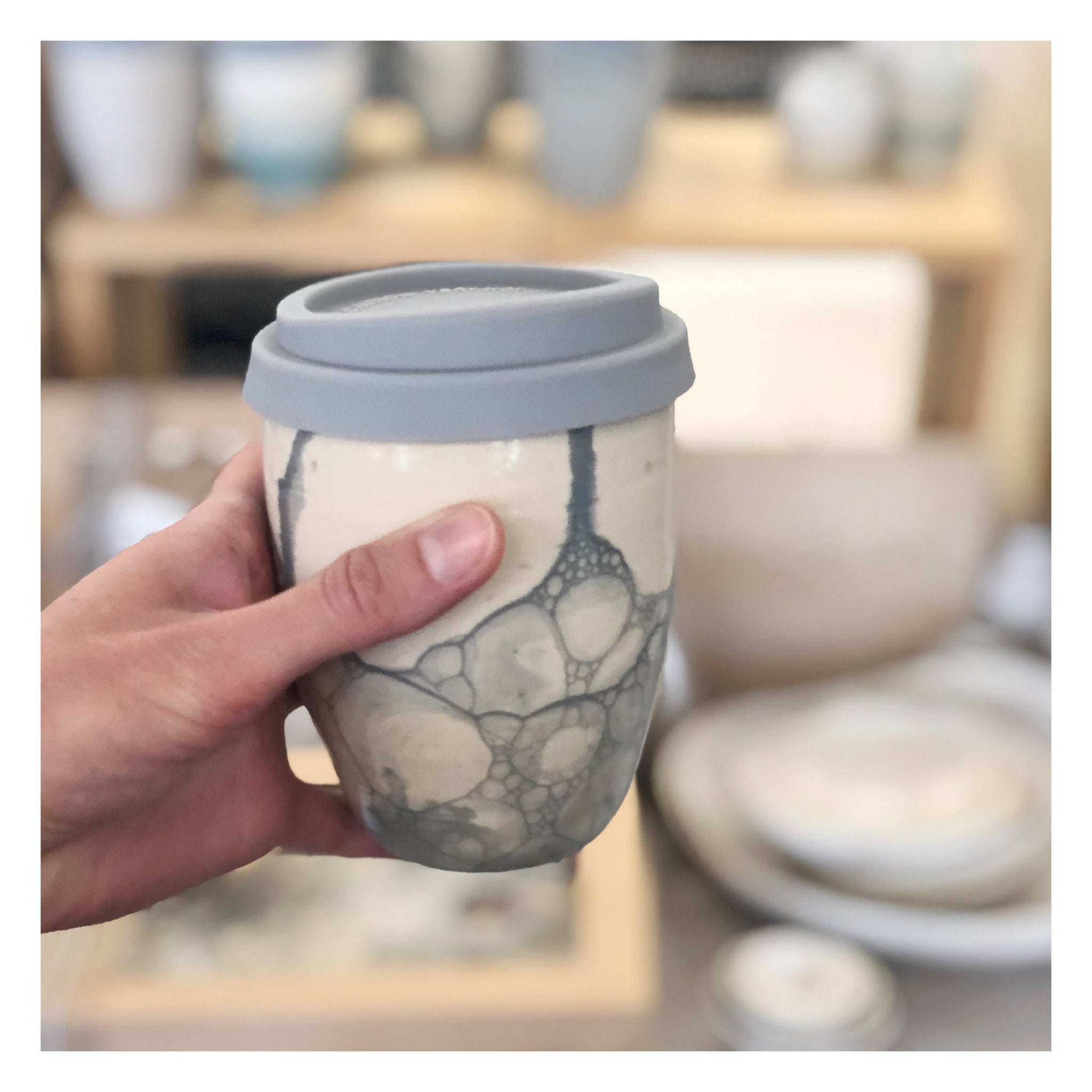 handmade ceramic keep cup travel cup