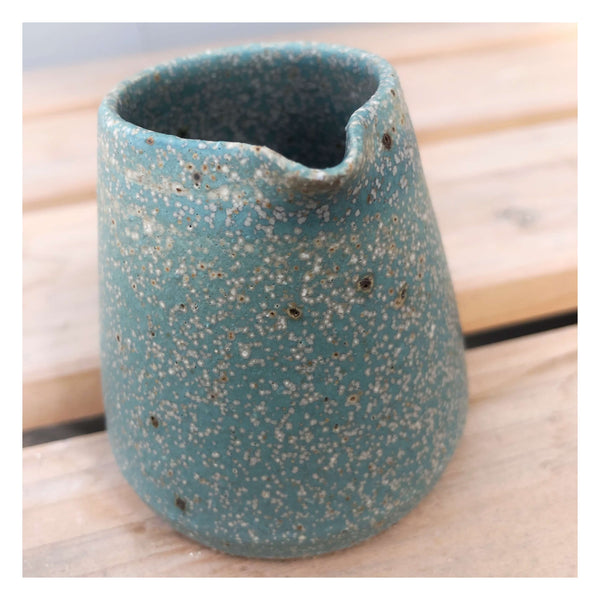 blue ceramic jug handmade perth