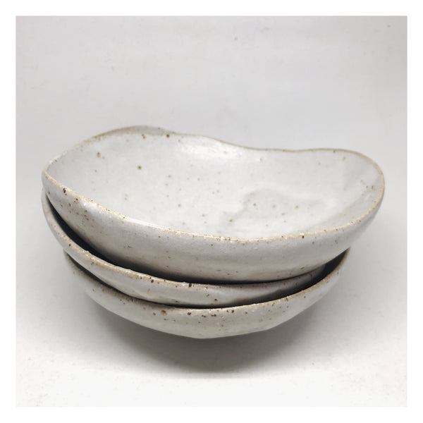 handmade ceramic bowl stack