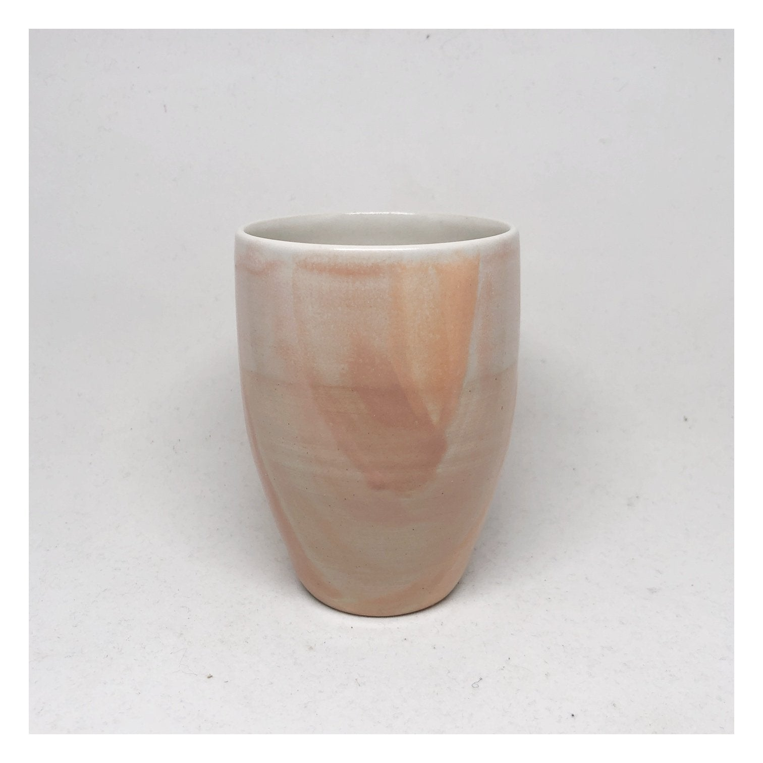 handmade blush tea cup