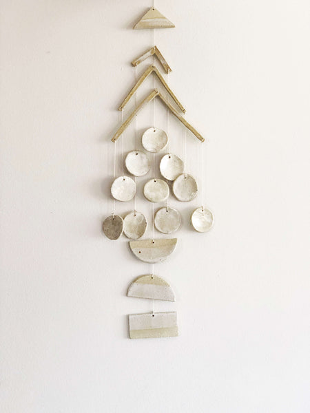 christmas tree wall hanging handmade ceramic