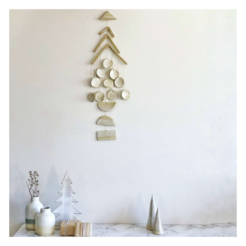 christmas tree wall hanging ceramic