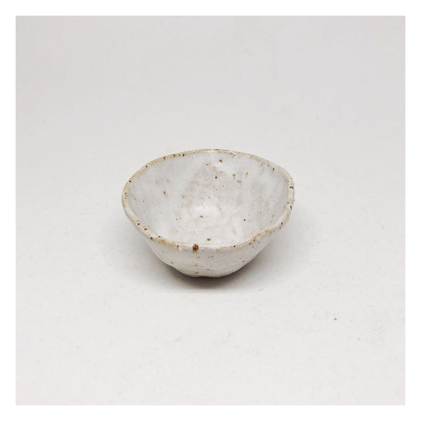 pinch pot ceramic speckled