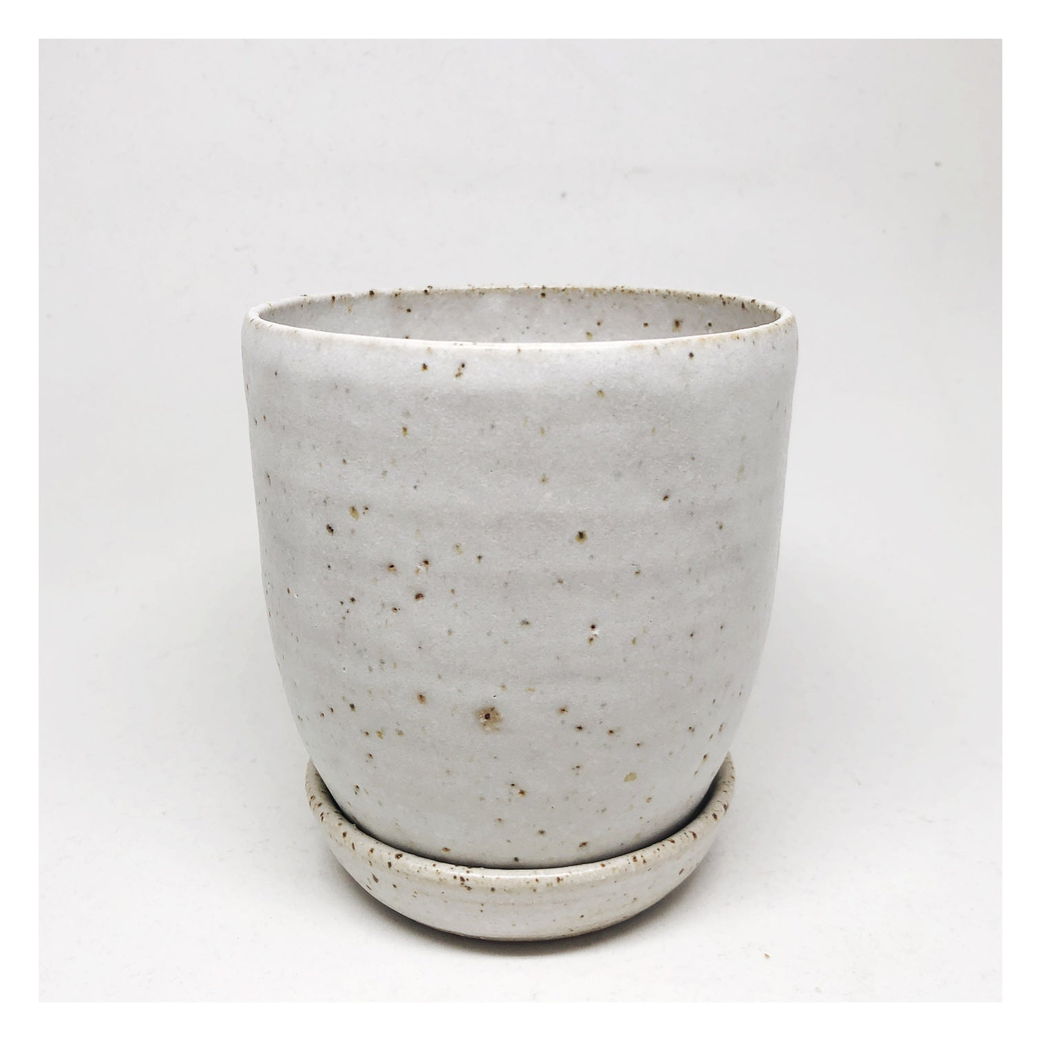handmade ceramic planter white
