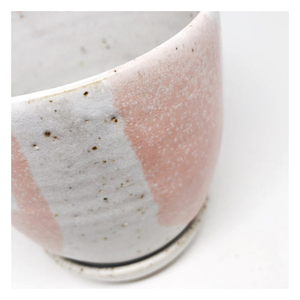 handmade ceramic planter blush