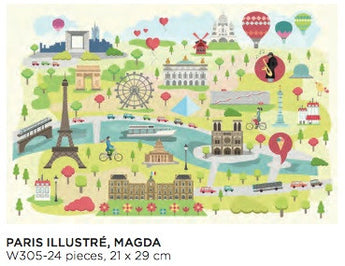 24 piece Kids Puzzles - Paris Illustré - Petite France Australia