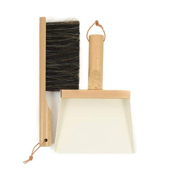 Andree Jardin Dustpan and Brush Gift Set Mr & Mrs Clynk in White - Petite France Australia