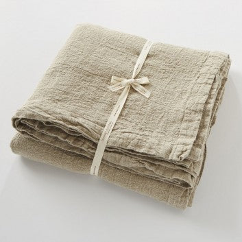 Bedcover King 100% French Linen in Natural Empreinte by Charvet Editions - Petite France Australia