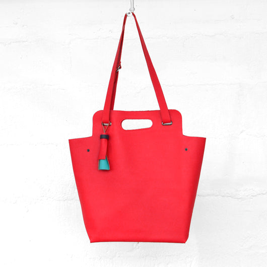 Leather Handbag Large -Kaba - Corail - Petite France Australia