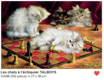 250 piece Adult Hand Cut Wooden Jigsaw Puzzle The Cats by Talboys - Petite France Australia