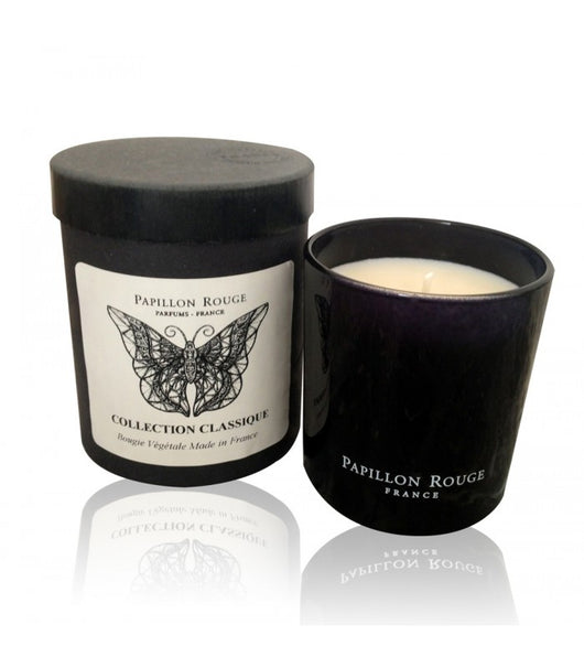 Papillon Rouge Vibrato Scented Natural Candle 150g 40 hours in box - Petite France Australia