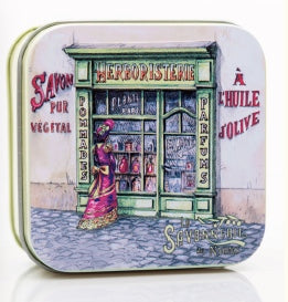Verbena Bar Soap in Tin (Herboristerie design) - Petite France Australia