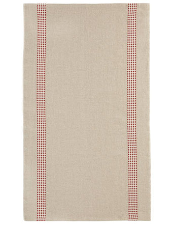 100% French Linen Kitchen Tea Towel Lustcru Rouge by Charvet Editions - Petite France Australia