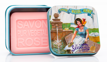Rose Bar Soap in Tin (Laundry design) - Petite France Australia