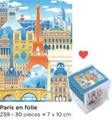 Kids french gifts wooden puzzle toys