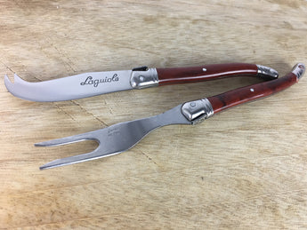 Laguiole French Cheese Knife and Fork Set - Petite France Australia