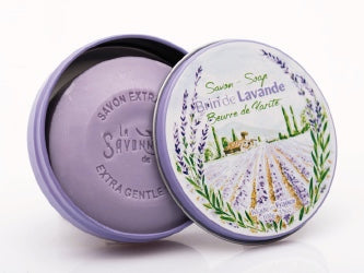 Lavender Soap in round Tin - Petite France Australia