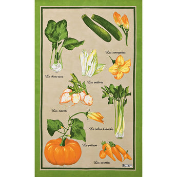 French Printed Fresh Market Tea Towel - Petite France Australia