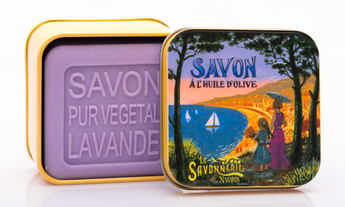 Lavender Bar Soap in Tin (Provence Bay design) - Petite France Australia
