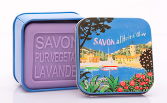 Lavender Bar Soap in Tin (French riviera design) - Petite France Australia