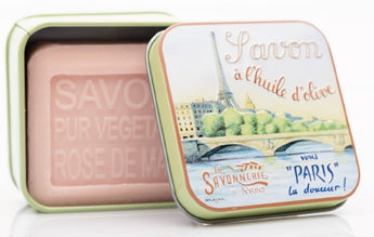 Rose Bar Soap in Tin (La Seine design) - Petite France Australia