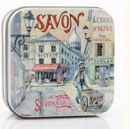 Rose Bar Soap in Tin (Montmartre design) - Petite France Australia