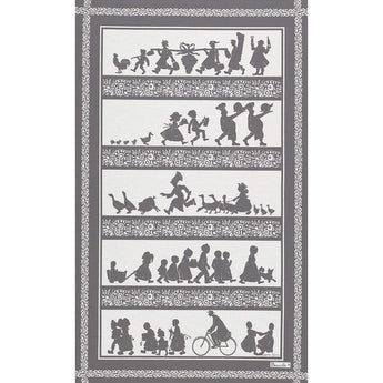Village workers Tea towel - Petite France Australia