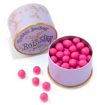Raspberry-Rose Chewy Candy in a Powder Box Boissier Paris - Petite France Australia