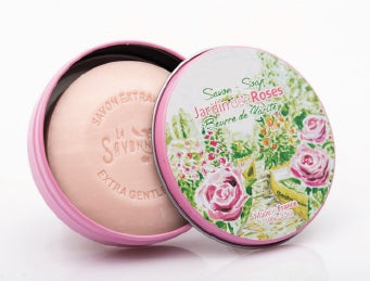 Rose Soap in round Tin - Petite France Australia