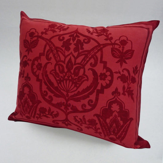 french cushion red home decor