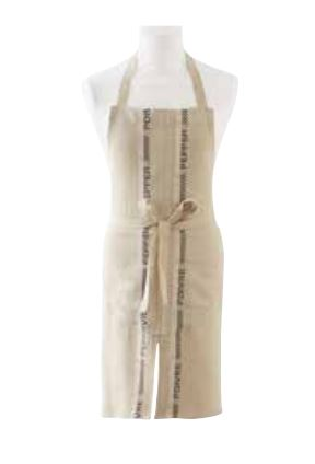 100% French Linen Apron with Sel Poivre Design by Charvet Editions - Petite France Australia